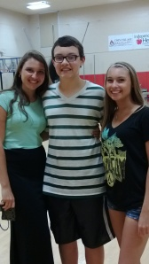Melanie and I with William at his eighth grade enrichment program at school